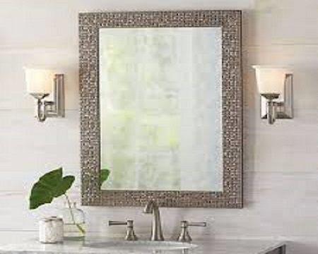 Vanity mirrors in bathrooms