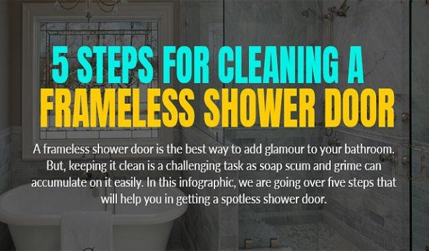 5 STEPS FOR CLEANING A FRAMELESS SHOWER DOOR