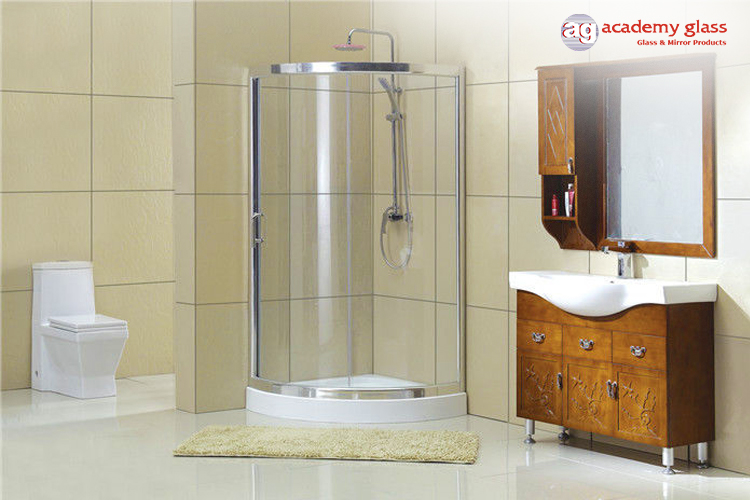 D-Shaped shower enclosure